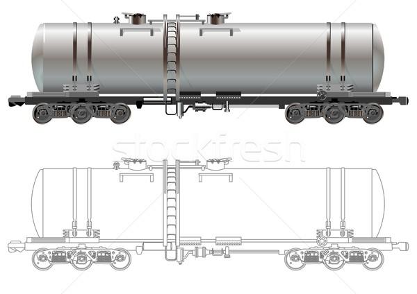 Oil / gasoline tanker car Stock photo © mechanik