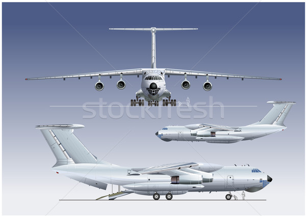 delivery/cargo airplane Stock photo © mechanik