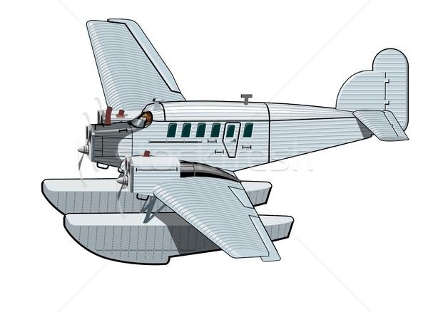 Cartoon retro vliegtuig vector vliegtuig eps10 Stockfoto © mechanik