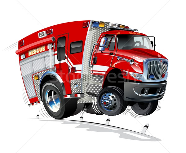 Vector Cartoon Rescue Truck Stock photo © mechanik
