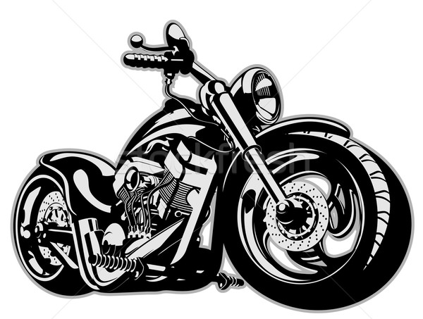 Vector Cartoon Motorbike Stock photo © mechanik
