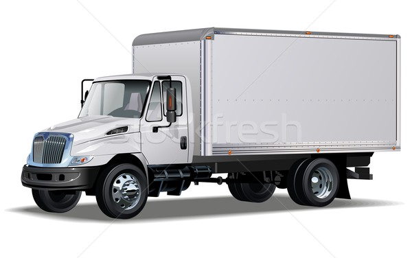 Vektör teslim kargo kamyon bir tıklayın Stok fotoğraf © mechanik