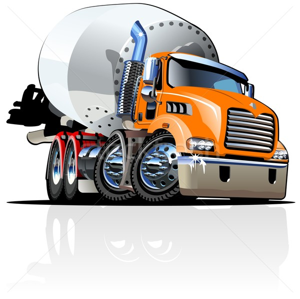 Stock photo: Cartoon Mixer Truck one click repaint option