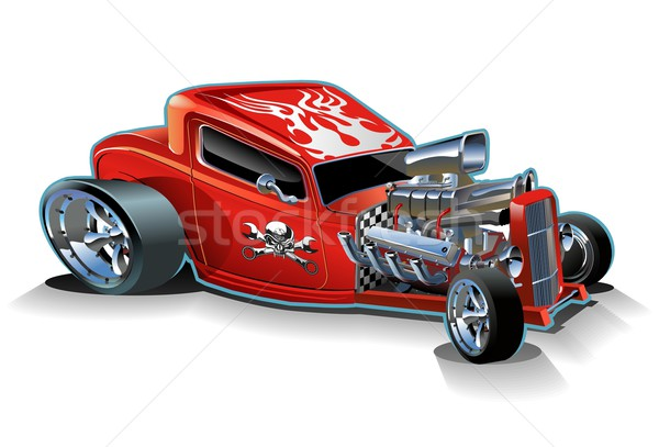 Vector cartoon hotrod Stock photo © mechanik