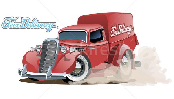 Cartoon retro delivery van Stock photo © mechanik