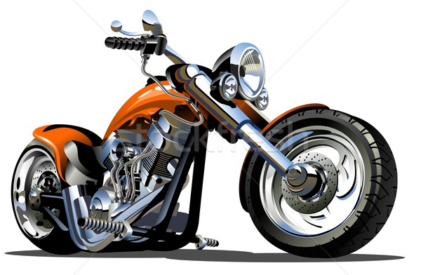 Stock photo: Vector Cartoon Motorbike