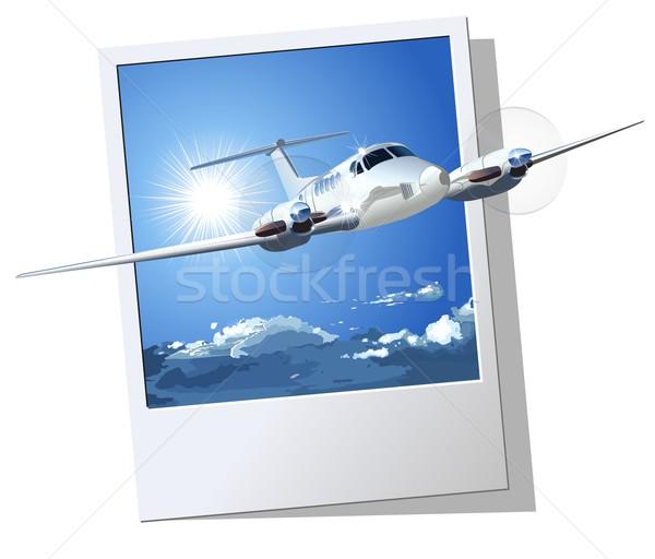 Burgerlijk utility vliegtuig vector eps8 groepen Stockfoto © mechanik