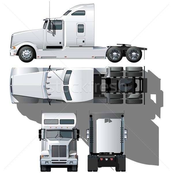Vector formaat doorzichtigheid optie schaduwen vrachtwagen Stockfoto © mechanik
