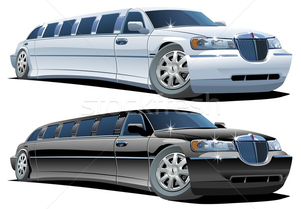 Photo stock: Vecteur · cartoon · limousine · eps8 · groupes · facile