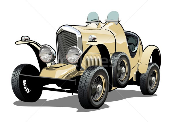 Cartoon retro car Stock photo © mechanik