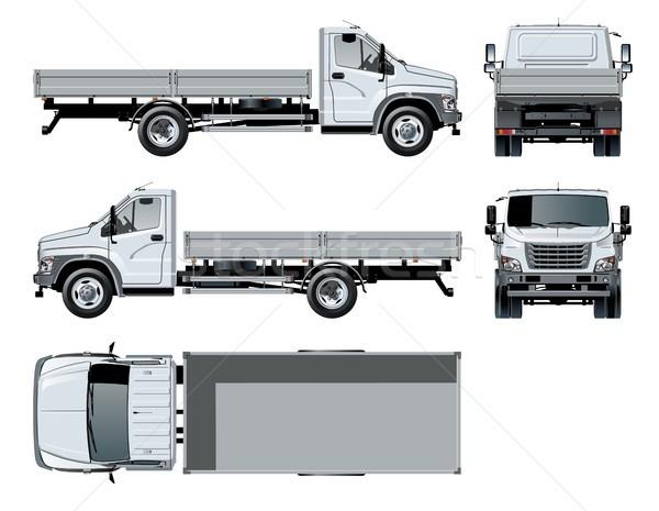 Vettore camion modello isolato bianco auto Foto d'archivio © mechanik
