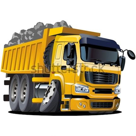 Foto stock: Vetor · desenho · animado · caminhão · eps10 · formato · grupos
