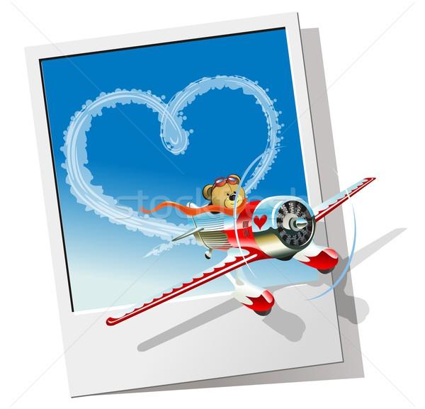 Cartoon airplane Stock photo © mechanik