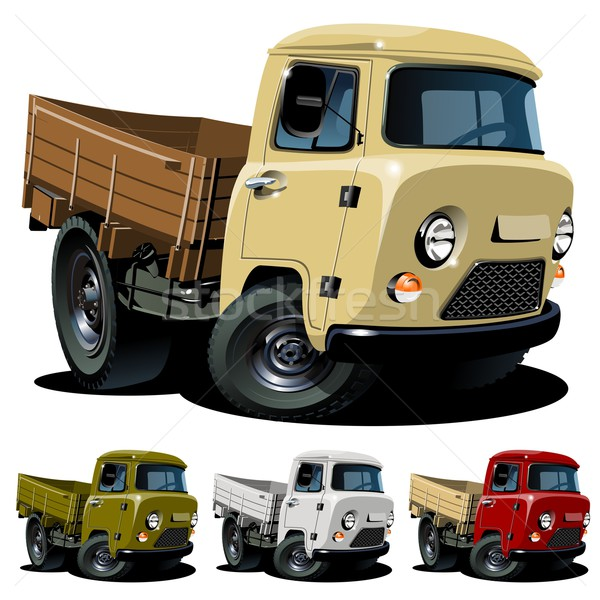 Vector cartoon 4x4 pickup one-click repaint Stock photo © mechanik