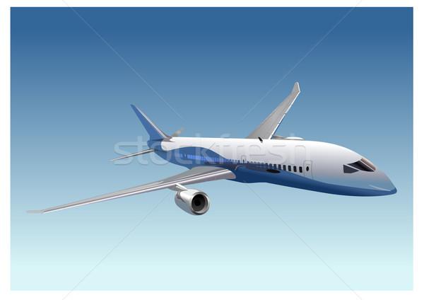 Sonho azul aeroporto navio nuvem voar Foto stock © mechanik