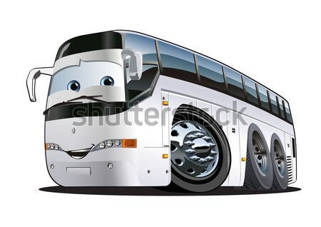 Vector bus eps8 kunst vervoer cartoon Stockfoto © mechanik