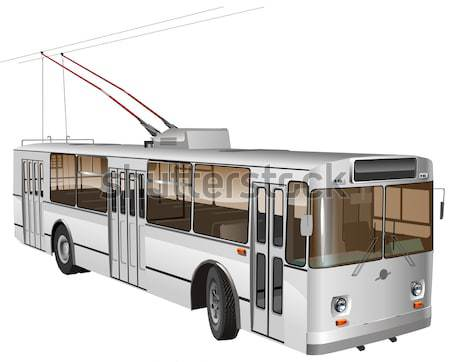 Stock photo: Vector trolleybus