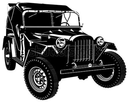 Vektor Retro Armee Jeep Auto eps8 Stock foto © mechanik