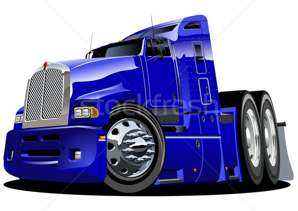 Vector cartoon semi-truck Stock photo © mechanik