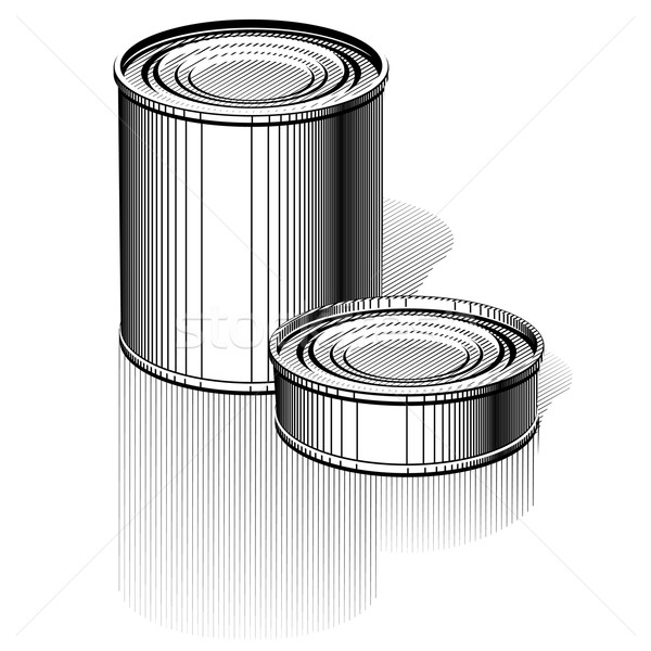 Vector Tincan set Stock photo © mechanik