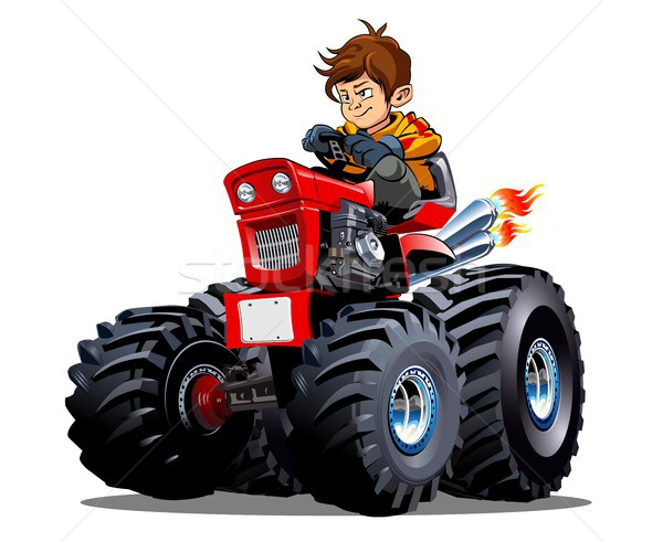 Vector Cartoon Tractor isolated on white background Stock photo © mechanik