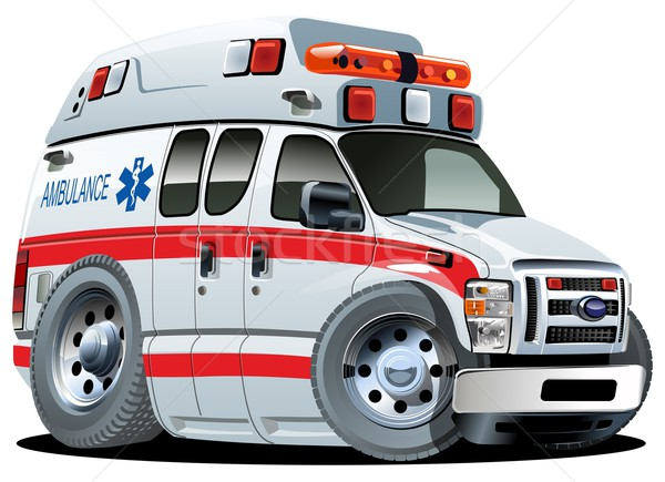 Vector cartoon ambulance auto van eps10 Stockfoto © mechanik