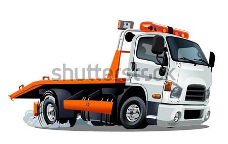 Vector cartoon tow truck Stock photo © mechanik