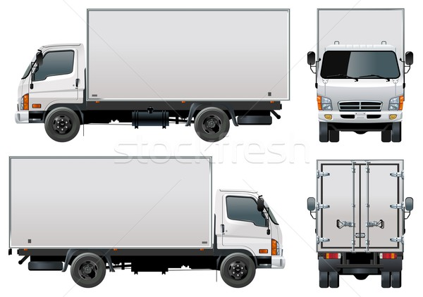 delivery truck vector - photo #31