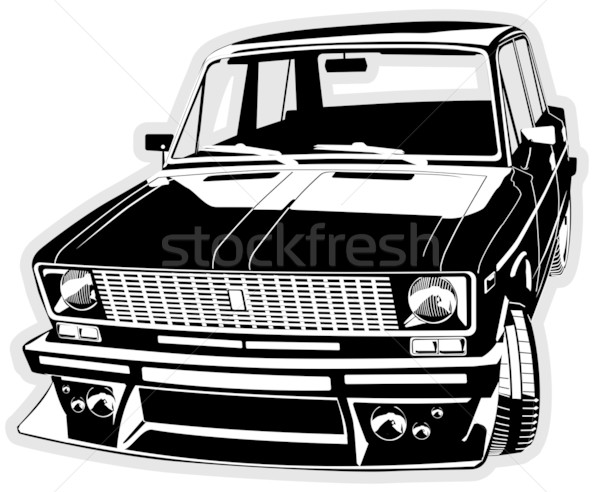 vector customized car Stock photo © mechanik