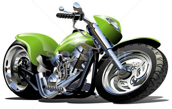 Cartoon motorfiets vector eps10 groepen lagen Stockfoto © mechanik