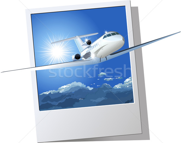 commercial airplane Stock photo © mechanik