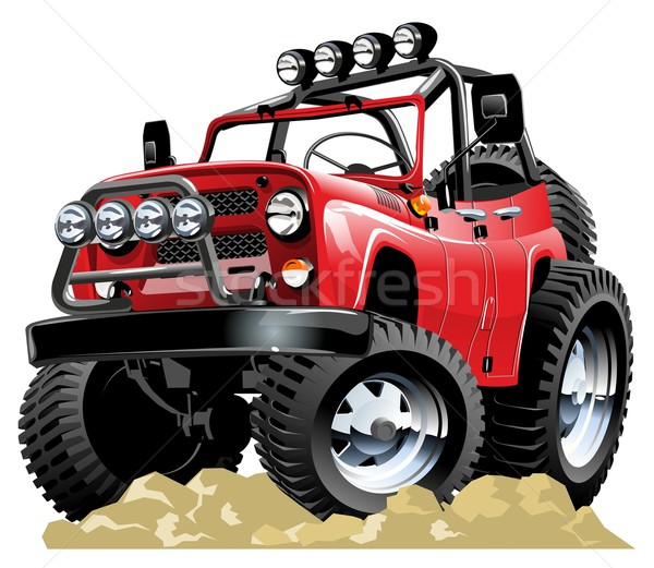 Vector cartoon jeep een klikken eps10 Stockfoto © mechanik