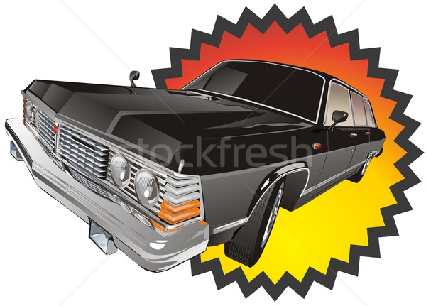 Vector retro auto limousine eps8 zwarte Stockfoto © mechanik