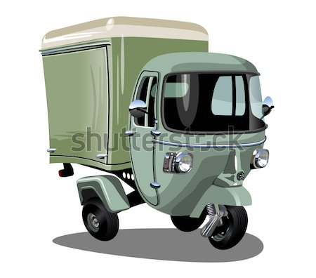 Vector Christmas delivery truck Stock photo © mechanik
