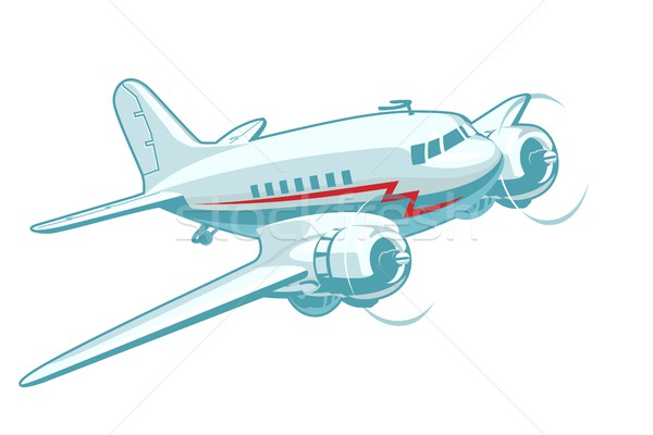Cartoon Retro Airplane Stock photo © mechanik