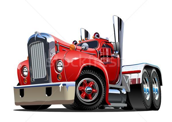 Cartoon retro semi truck Stock photo © mechanik