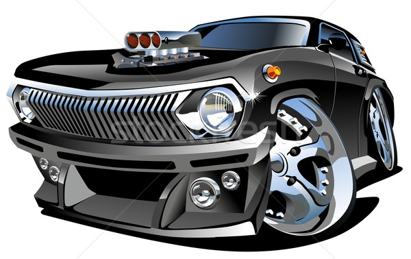 Cartoon retro hot rod eps8 vector formaat Stockfoto © mechanik