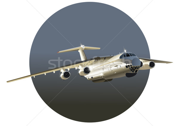 Vector art of jet cargo airplane Stock photo © mechanik