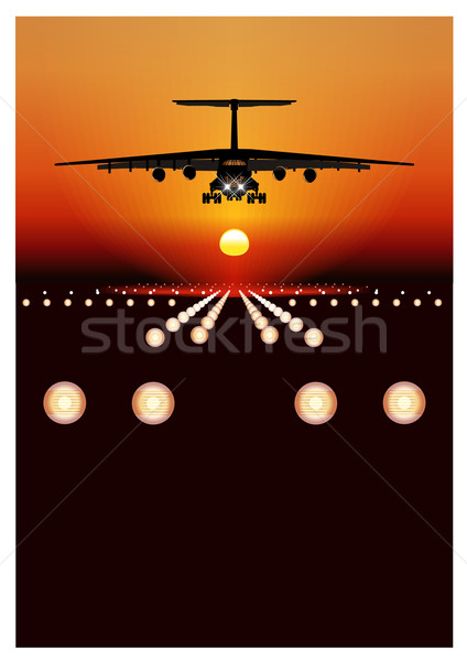 cargo airplane Stock photo © mechanik