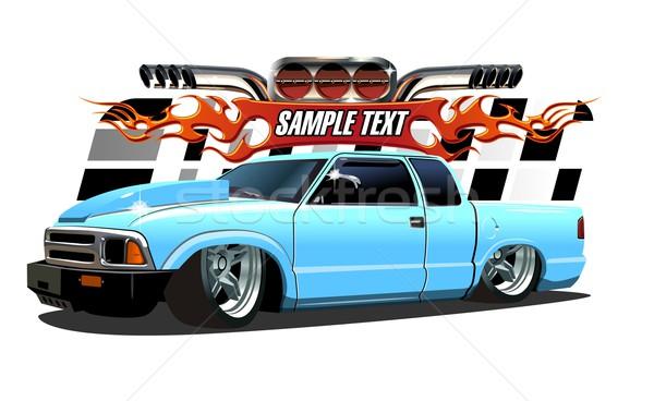 Cartoon Lowrider Stock photo © mechanik
