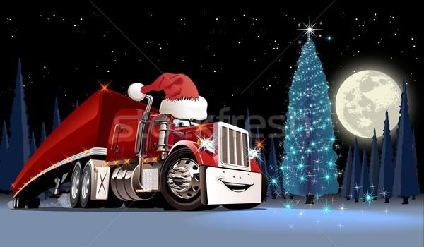 Vektor karácsonyi üdvözlet eps10 formátum csoportok rétegek Stock fotó © mechanik