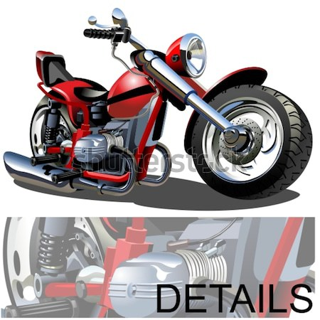 Cartoon motorfiets vector eps8 groepen lagen Stockfoto © mechanik