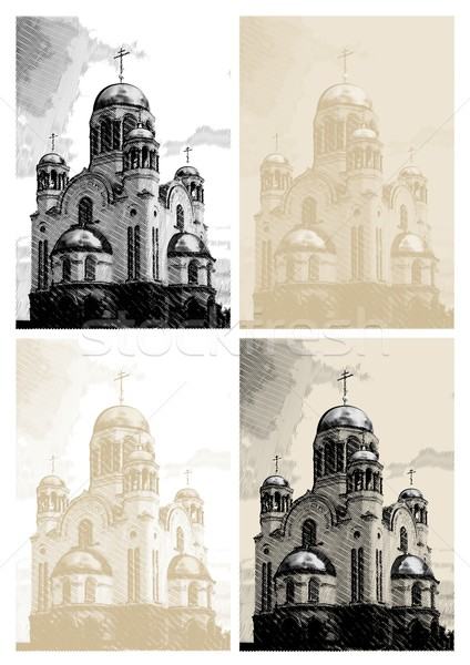 ベクトル 教会 彫刻 スタイル イースター 詳しい ストックフォト © mechanik
