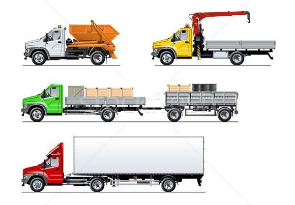 Vector spec trucks set isolated on white Stock photo © mechanik
