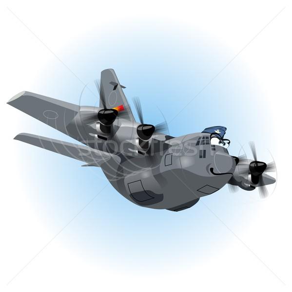 Vector Cartoon Cargo Airplane Stock photo © mechanik