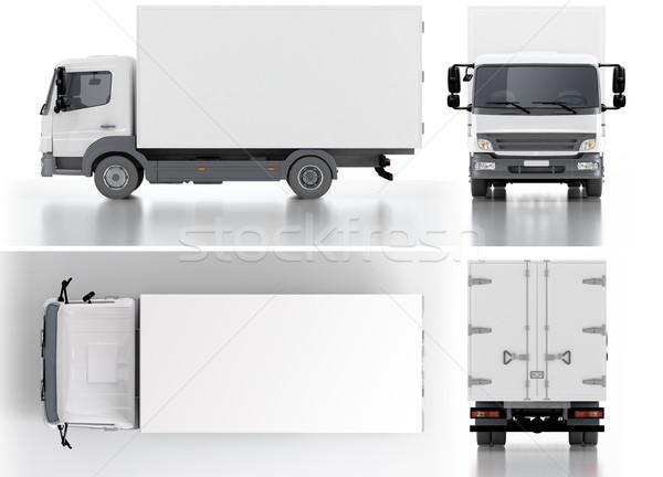 Consegna carico camion rendering 3d computer auto Foto d'archivio © mechanik
