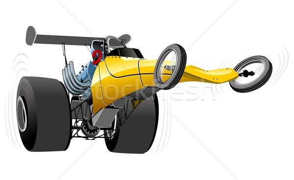 Vector cartoon dragster Stock photo © mechanik
