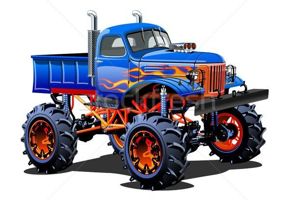 Cartoon монстр грузовика eps10 группы Сток-фото © mechanik