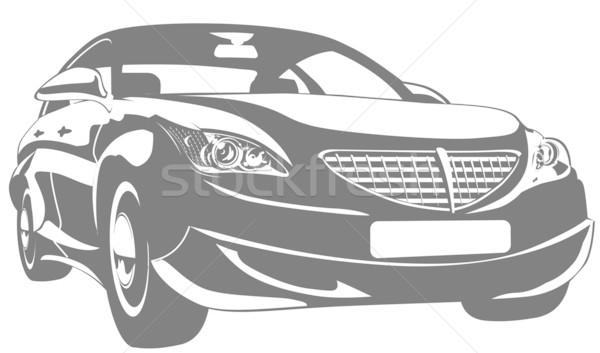 Vector abstract car.  Stock photo © mechanik