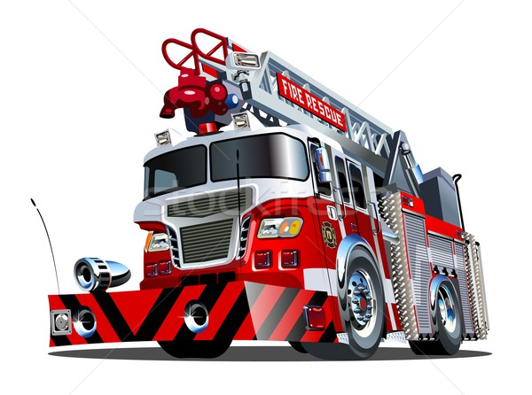 Vector cartoon firetruck Stock photo © mechanik